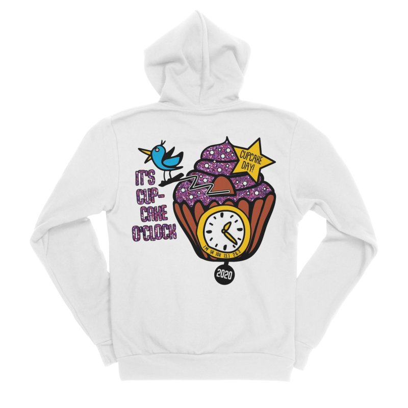 Cupcake O'Clock Men's Sponge Fleece Zip-Up Hoody by Moon Joggers's Artist Shop