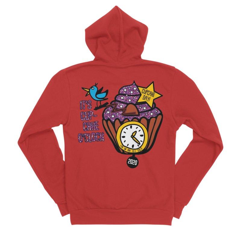 Cupcake O'Clock Women's Sponge Fleece Zip-Up Hoody by Moon Joggers's Artist Shop