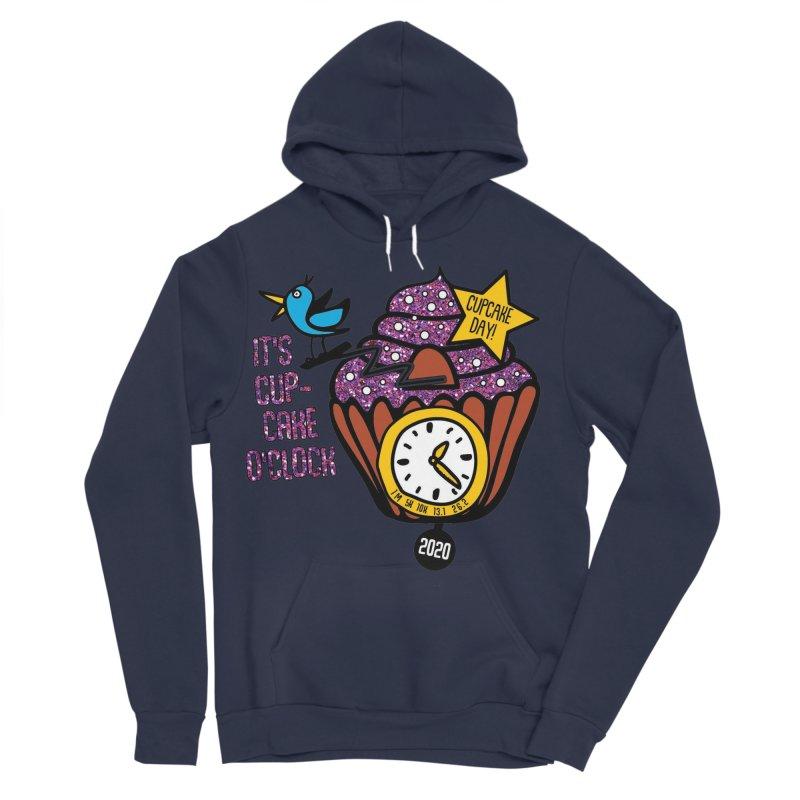 Cupcake O'Clock Women's Sponge Fleece Pullover Hoody by Moon Joggers's Artist Shop