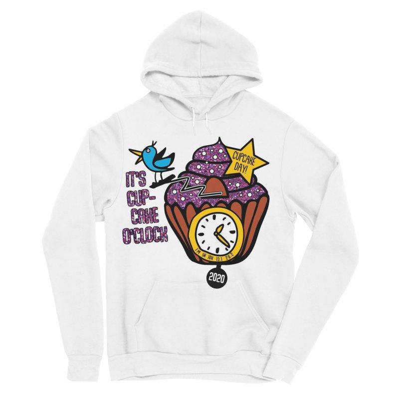 Cupcake O'Clock Men's Sponge Fleece Pullover Hoody by Moon Joggers's Artist Shop