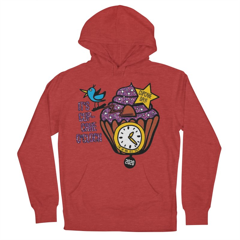 Cupcake O'Clock Men's French Terry Pullover Hoody by Moon Joggers's Artist Shop