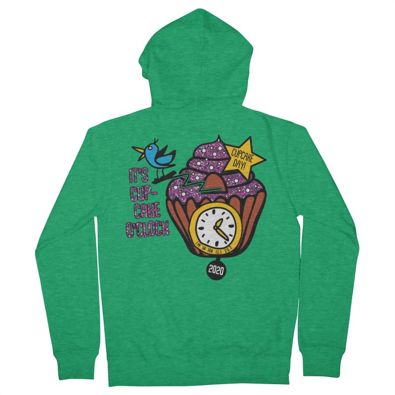Cupcake O'Clock Women's French Terry Zip-Up Hoody by Moon Joggers's Artist Shop