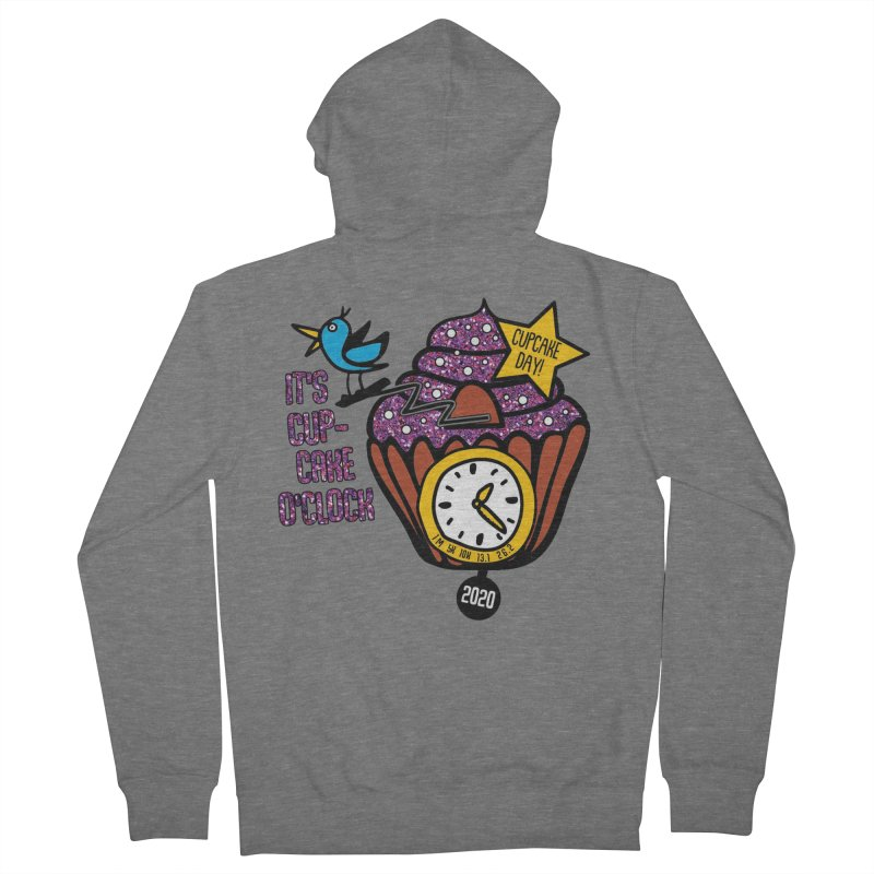 Cupcake O'Clock Men's French Terry Zip-Up Hoody by Moon Joggers's Artist Shop