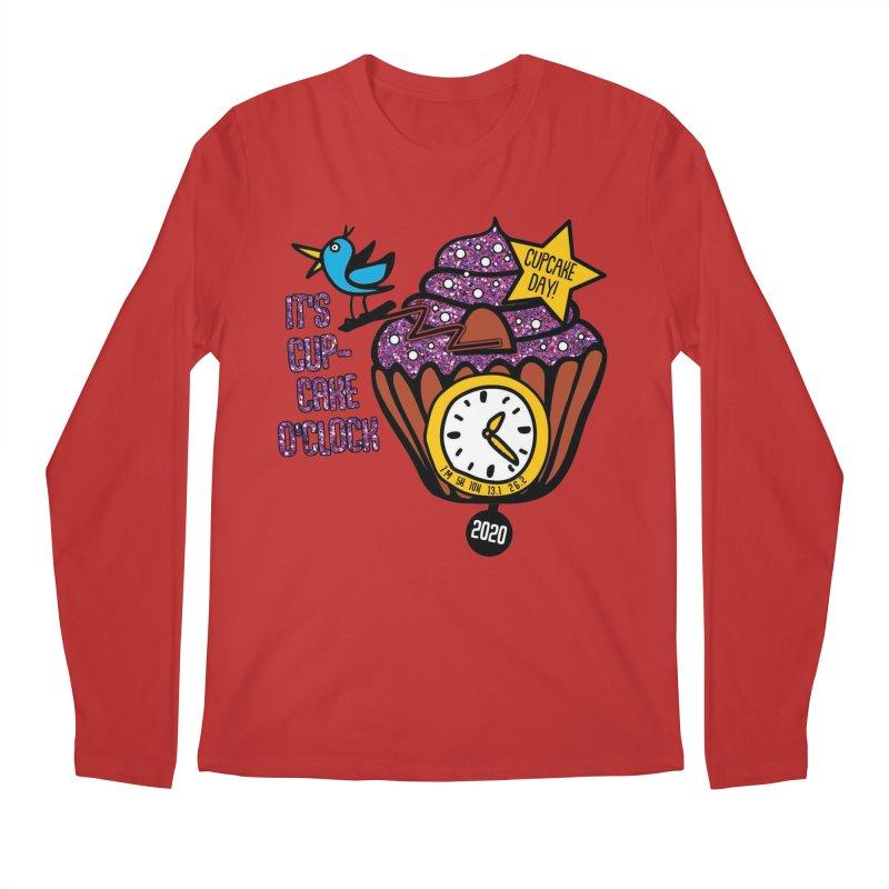 Cupcake O'Clock Men's Regular Longsleeve T-Shirt by Moon Joggers's Artist Shop