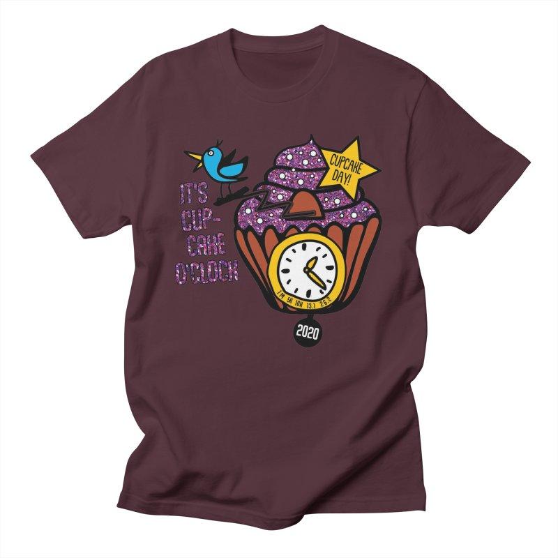 Cupcake O'Clock Men's Regular T-Shirt by Moon Joggers's Artist Shop
