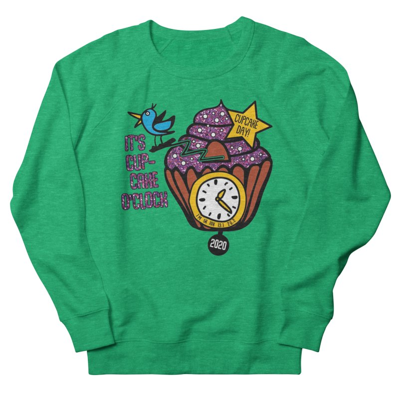 Cupcake O'Clock Women's French Terry Sweatshirt by Moon Joggers's Artist Shop