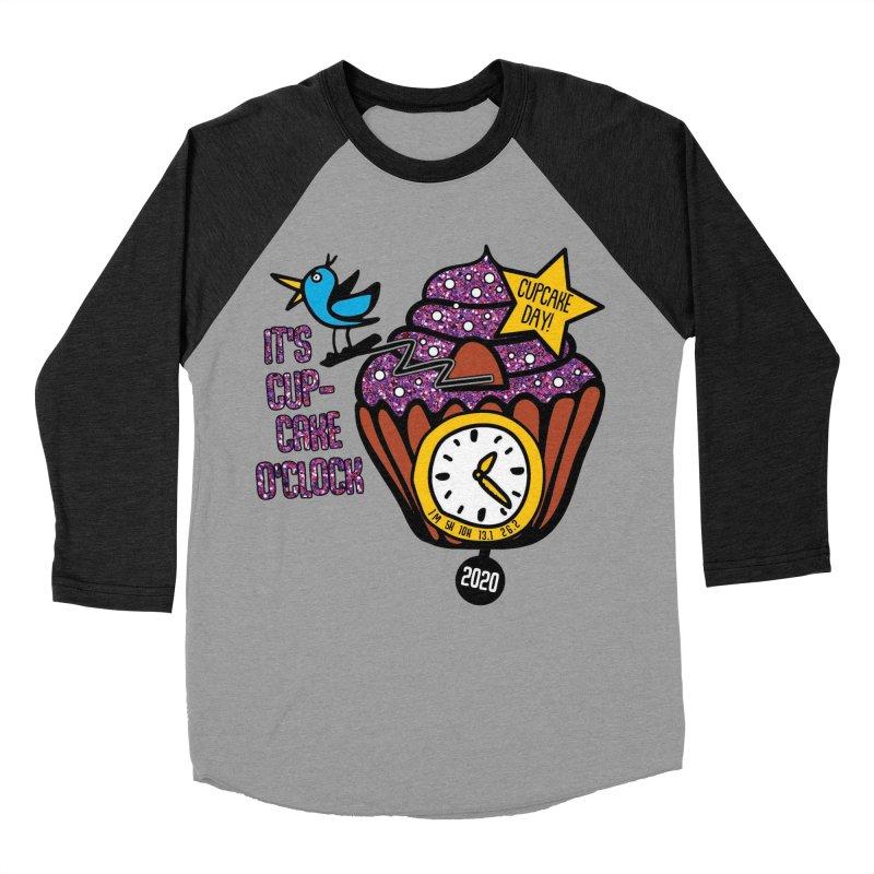 Cupcake O'Clock Men's Baseball Triblend Longsleeve T-Shirt by Moon Joggers's Artist Shop