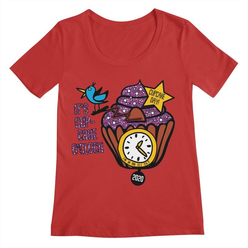 Cupcake O'Clock Women's Regular Scoop Neck by Moon Joggers's Artist Shop