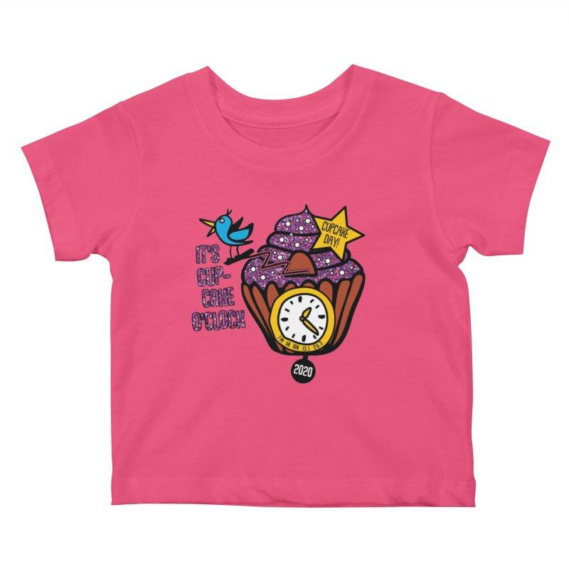 Cupcake O'Clock Kids Baby T-Shirt by Moon Joggers's Artist Shop