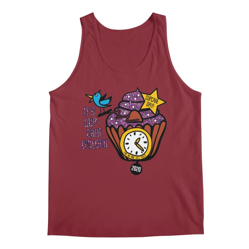 Cupcake O'Clock Men's Tank by Moon Joggers's Artist Shop