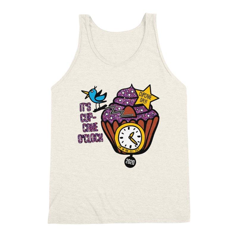 Cupcake O'Clock Men's Triblend Tank by Moon Joggers's Artist Shop
