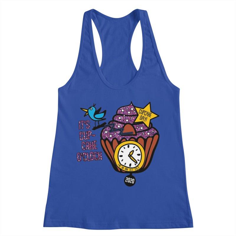 Cupcake O'Clock Women's Racerback Tank by Moon Joggers's Artist Shop