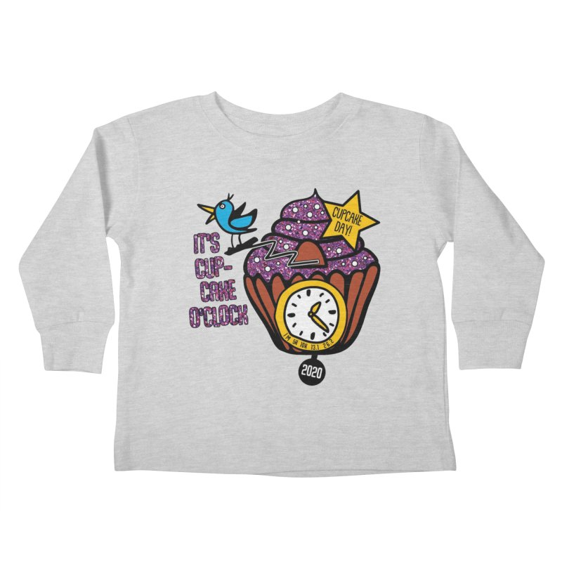 Cupcake O'Clock Kids Toddler Longsleeve T-Shirt by Moon Joggers's Artist Shop