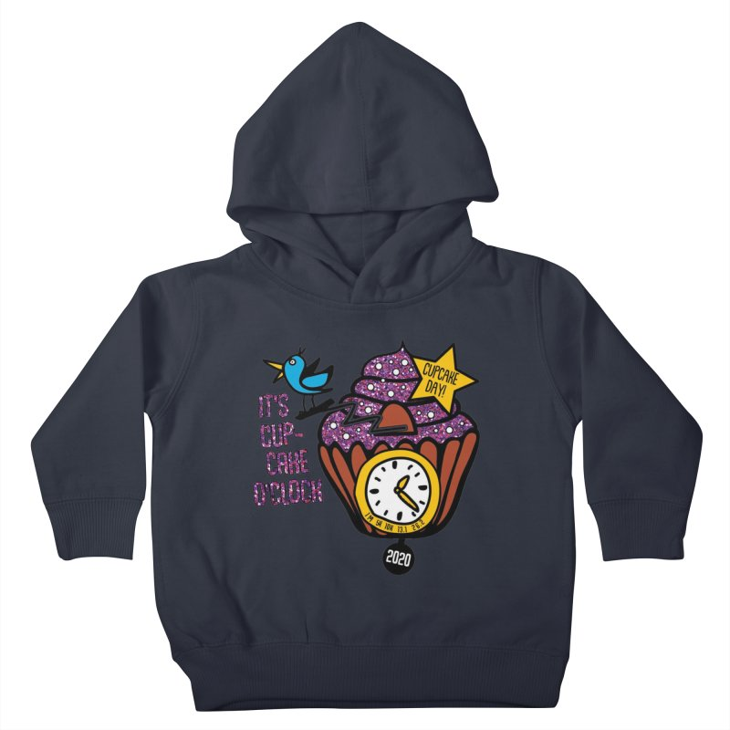Cupcake O'Clock Kids Toddler Pullover Hoody by Moon Joggers's Artist Shop