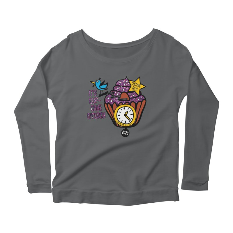 Cupcake O'Clock Women's Scoop Neck Longsleeve T-Shirt by Moon Joggers's Artist Shop