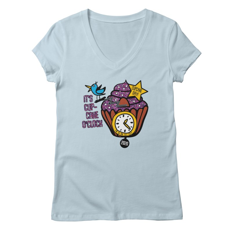 Cupcake O'Clock Women's Regular V-Neck by Moon Joggers's Artist Shop