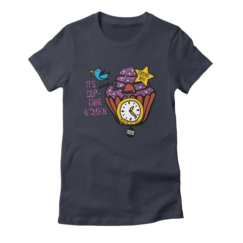 Cupcake O'Clock Women's Fitted T-Shirt by Moon Joggers's Artist Shop