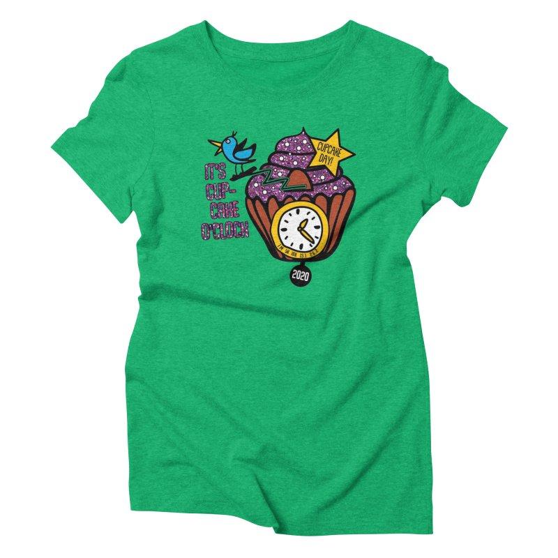 Cupcake O'Clock Women's Triblend T-Shirt by Moon Joggers's Artist Shop