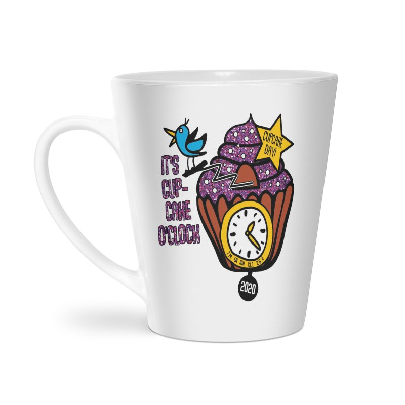 Cupcake O'Clock Accessories Latte Mug by Moon Joggers's Artist Shop