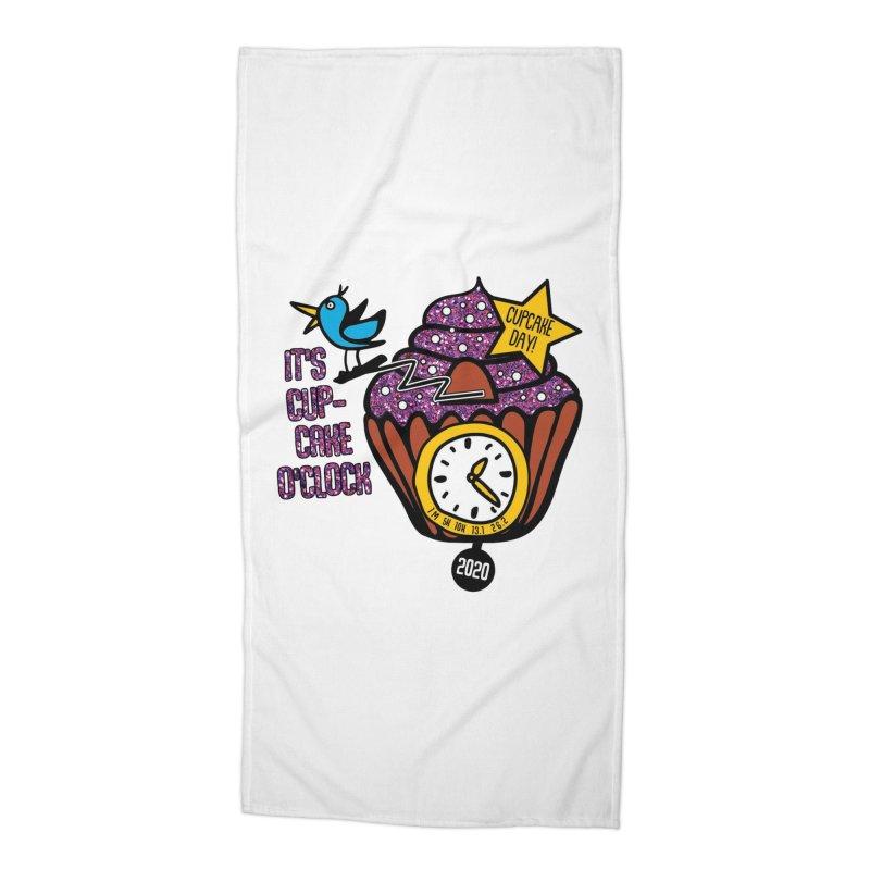 Cupcake O'Clock Accessories Beach Towel by Moon Joggers's Artist Shop