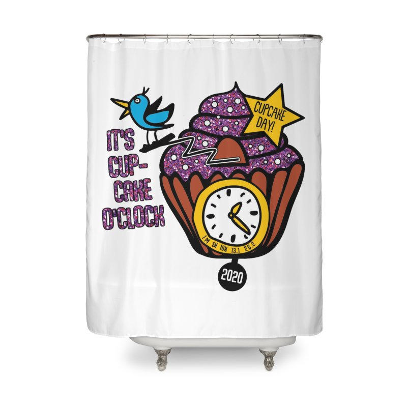 Cupcake O'Clock Home Shower Curtain by Moon Joggers's Artist Shop