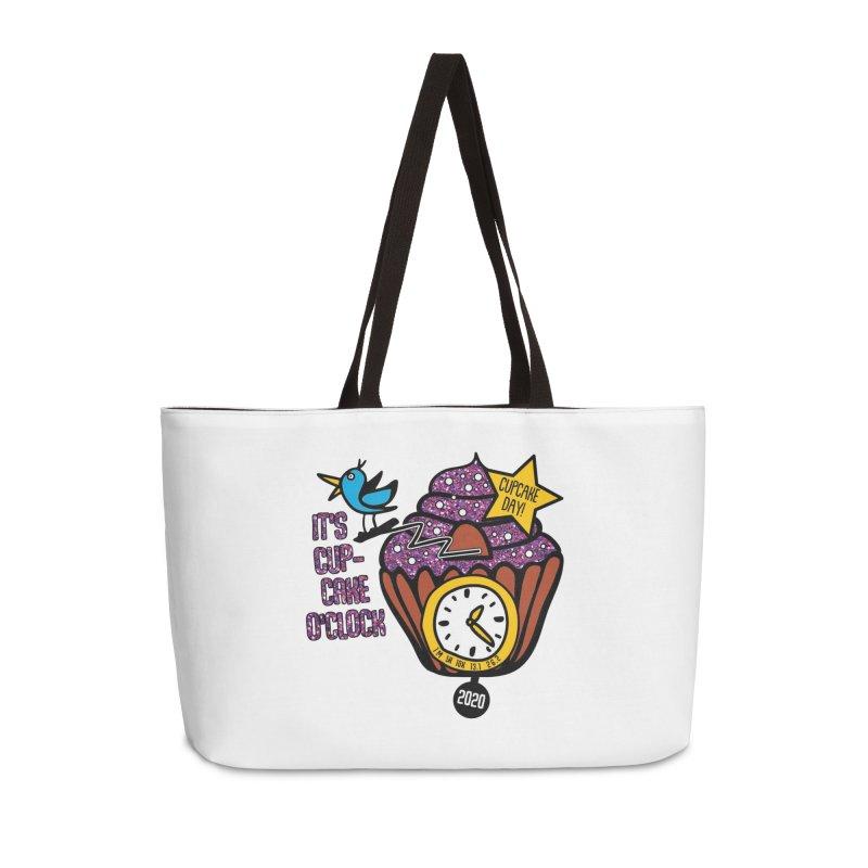 Cupcake O'Clock Accessories Weekender Bag Bag by Moon Joggers's Artist Shop