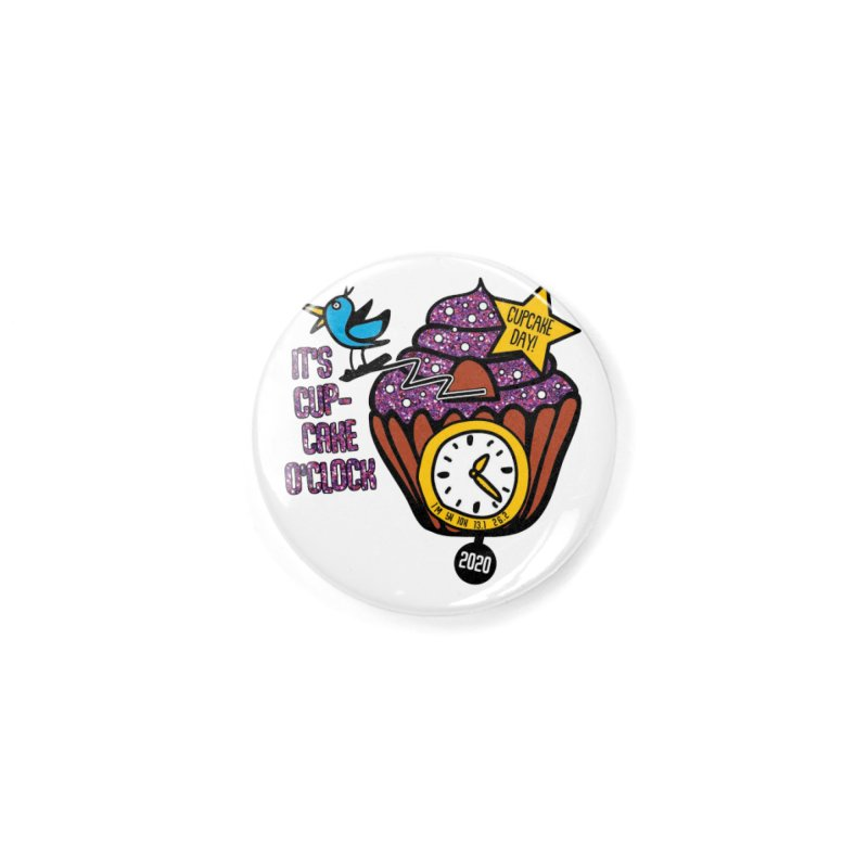 Cupcake O'Clock Accessories Button by Moon Joggers's Artist Shop