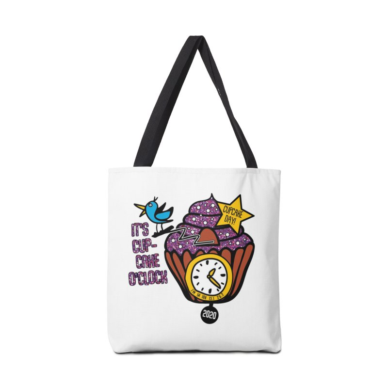 Cupcake O'Clock Accessories Tote Bag Bag by Moon Joggers's Artist Shop