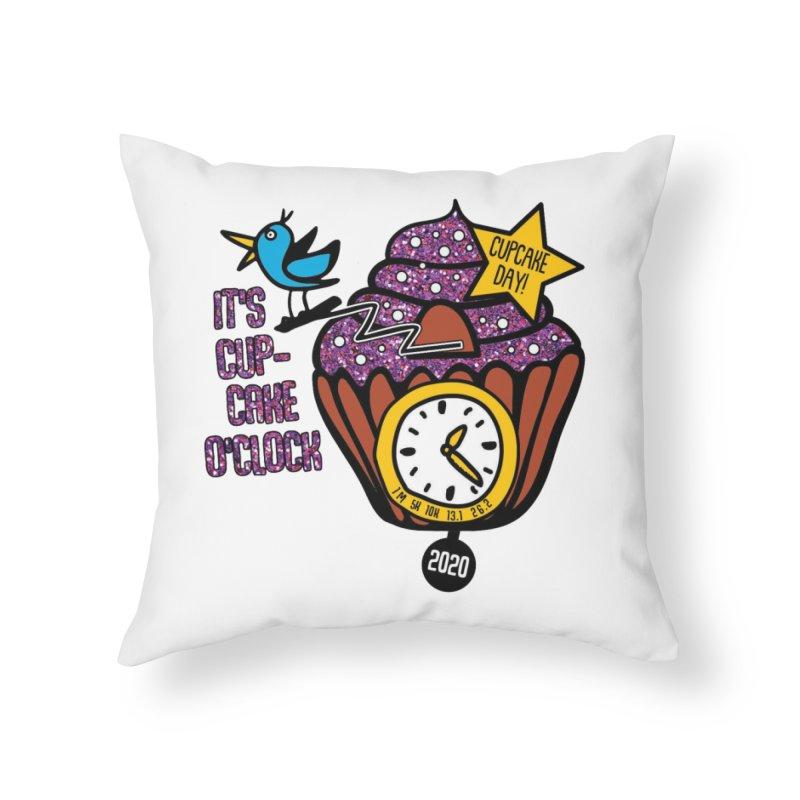 Cupcake O'Clock Home Throw Pillow by Moon Joggers's Artist Shop