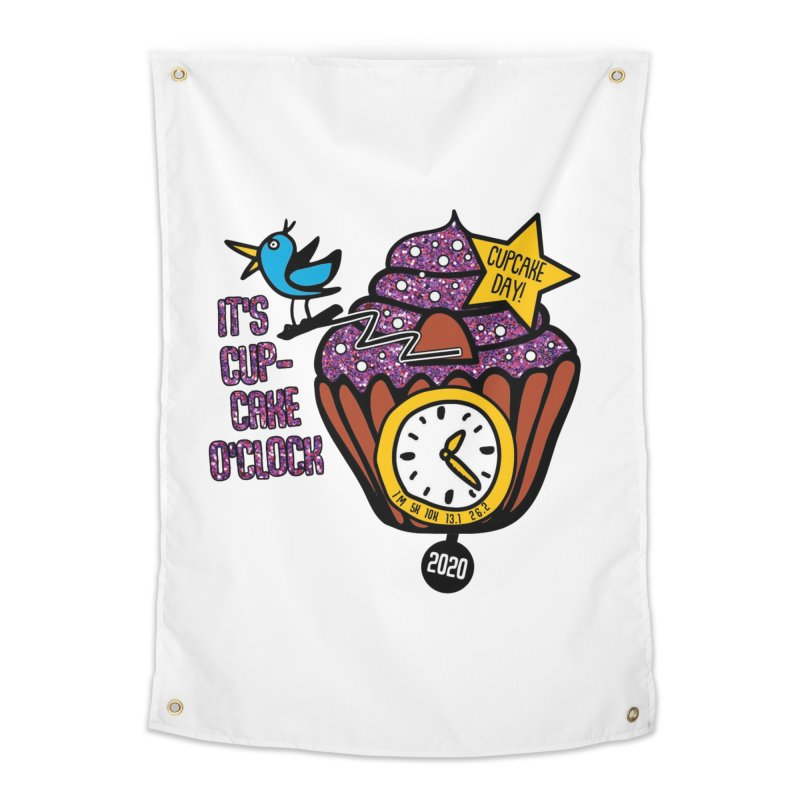 Cupcake O'Clock Home Tapestry by Moon Joggers's Artist Shop