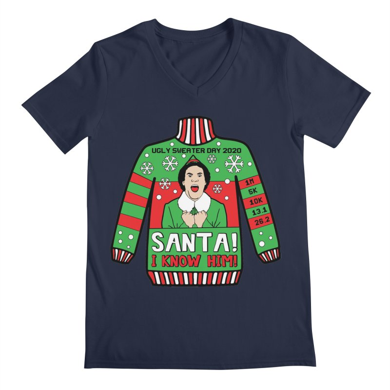 Ugly Sweater Day Men's Regular V-Neck by Moon Joggers's Artist Shop