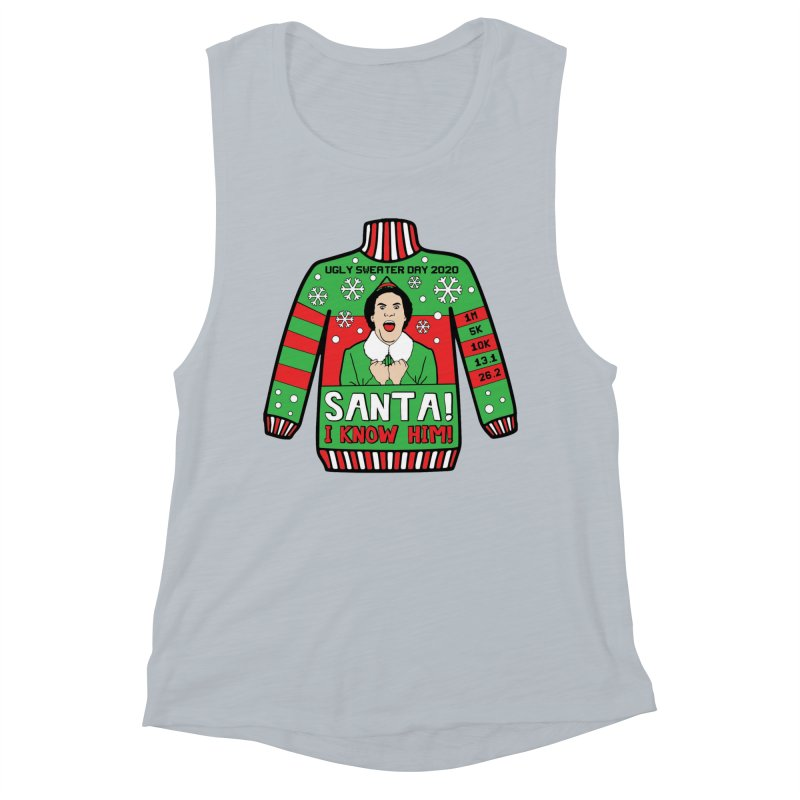 Ugly Sweater Day Women's Muscle Tank by Moon Joggers's Artist Shop