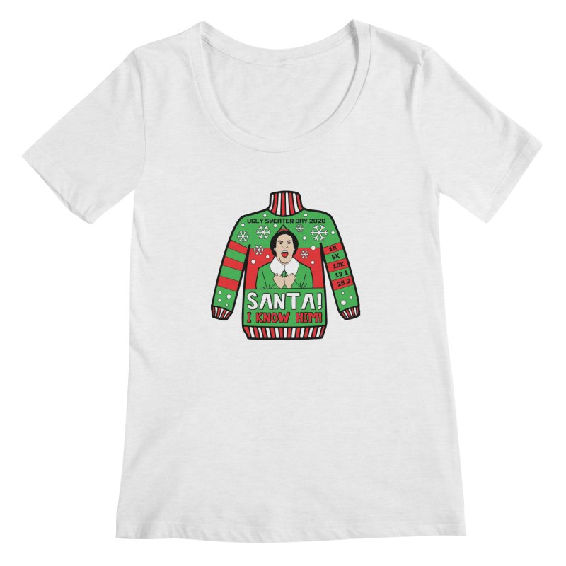 Ugly Sweater Day Women's Regular Scoop Neck by Moon Joggers's Artist Shop