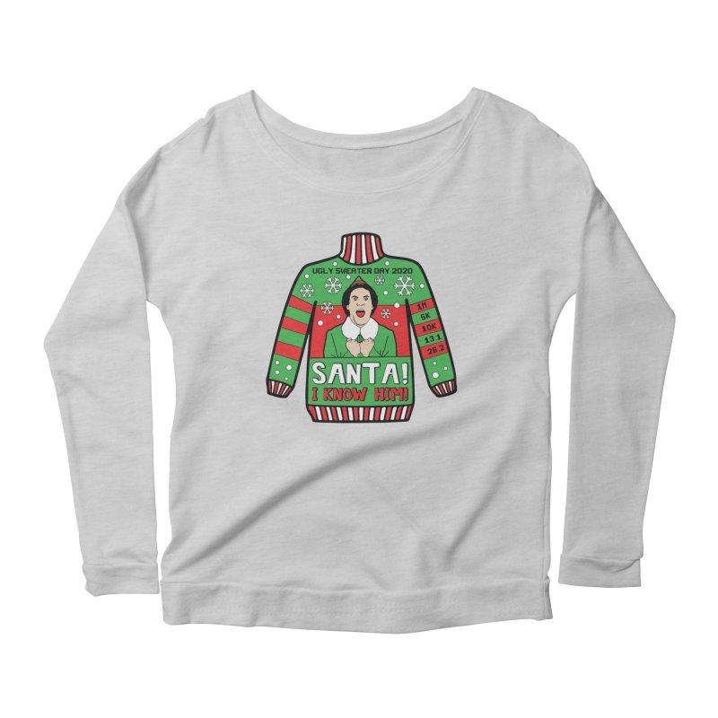 Ugly Sweater Day Women's Scoop Neck Longsleeve T-Shirt by Moon Joggers's Artist Shop
