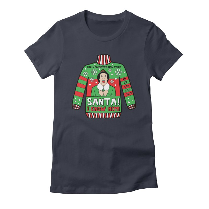 Ugly Sweater Day Women's Fitted T-Shirt by Moon Joggers's Artist Shop