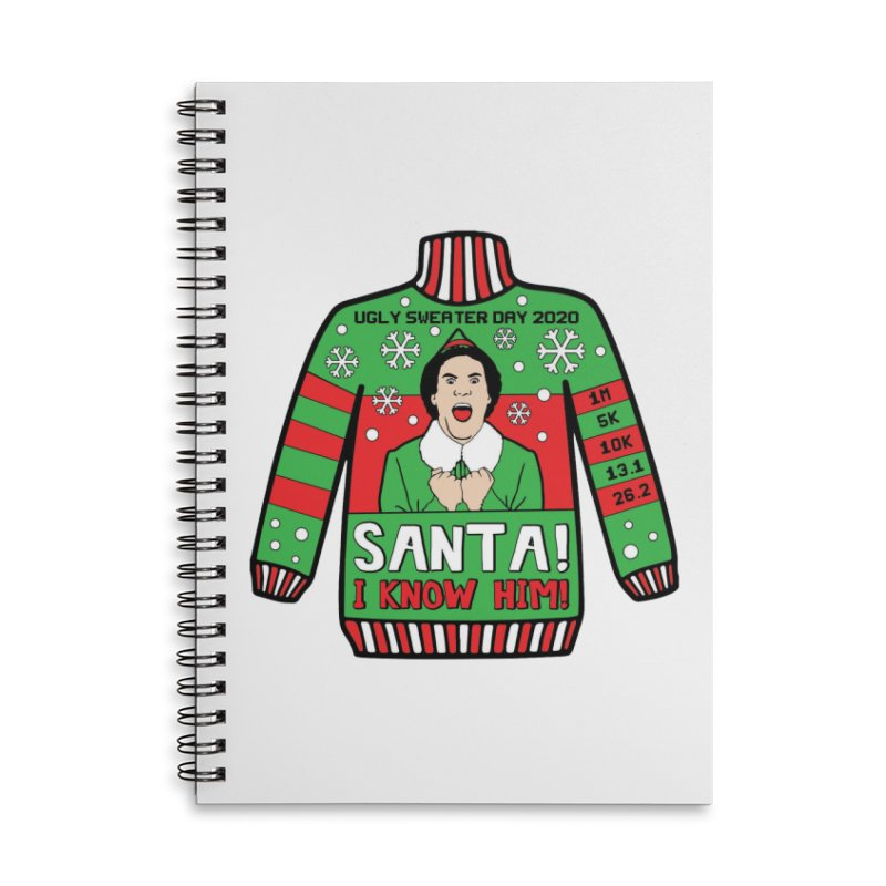 Ugly Sweater Day Accessories Lined Spiral Notebook by Moon Joggers's Artist Shop