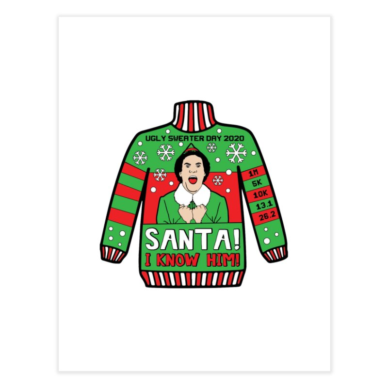 Ugly Sweater Day Home Fine Art Print by Moon Joggers's Artist Shop