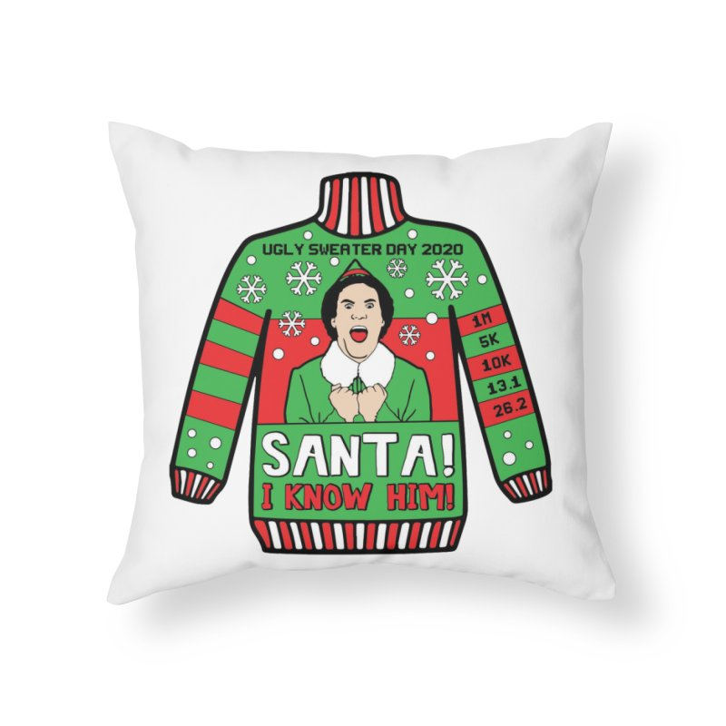 Ugly Sweater Day Home Throw Pillow by Moon Joggers's Artist Shop