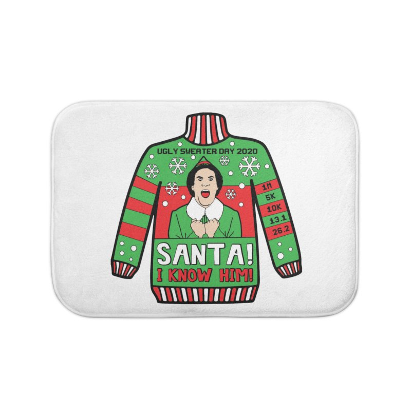 Ugly Sweater Day Home Bath Mat by Moon Joggers's Artist Shop