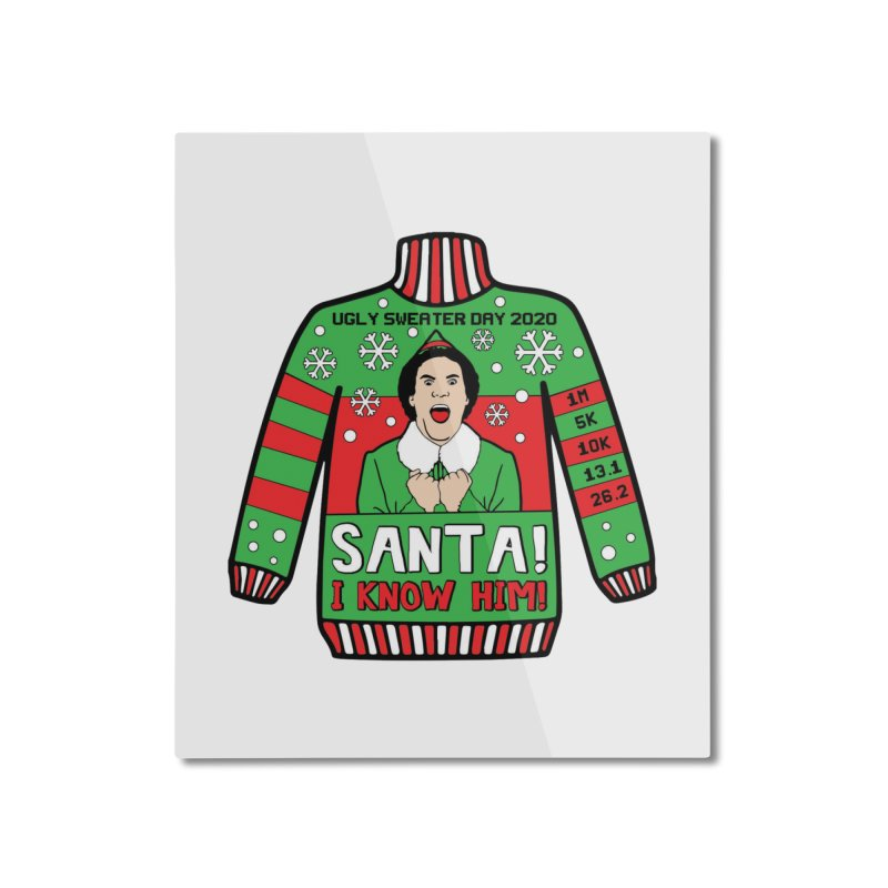 Ugly Sweater Day Home Mounted Aluminum Print by Moon Joggers's Artist Shop