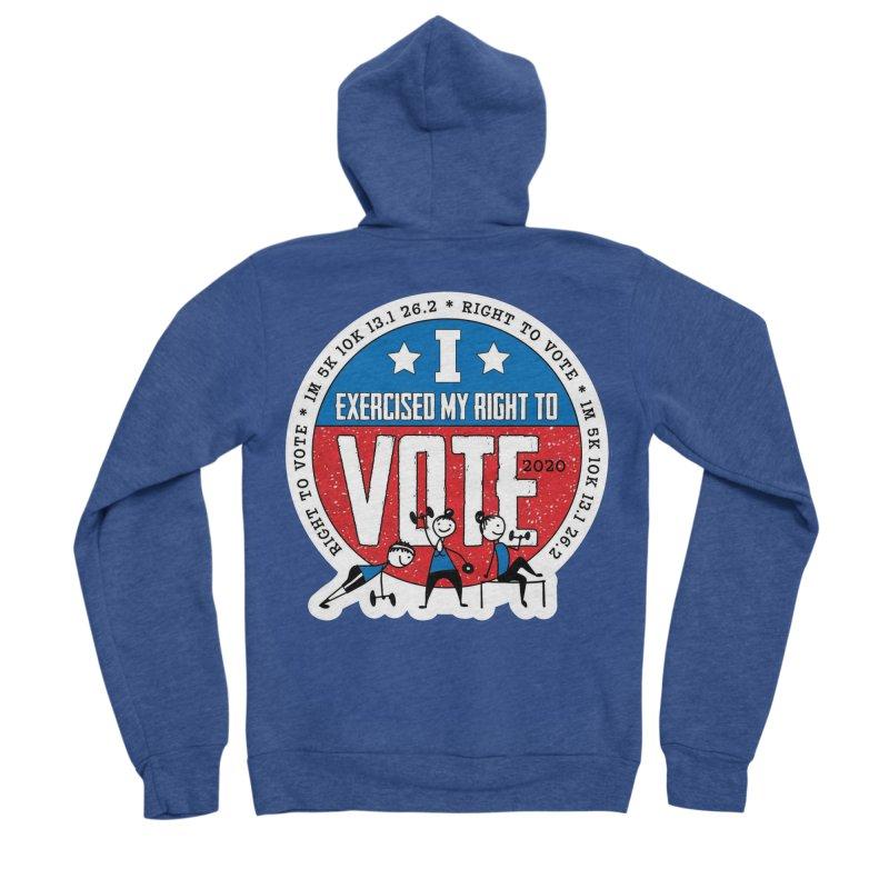 Right to Vote Men's Sponge Fleece Zip-Up Hoody by Moon Joggers's Artist Shop