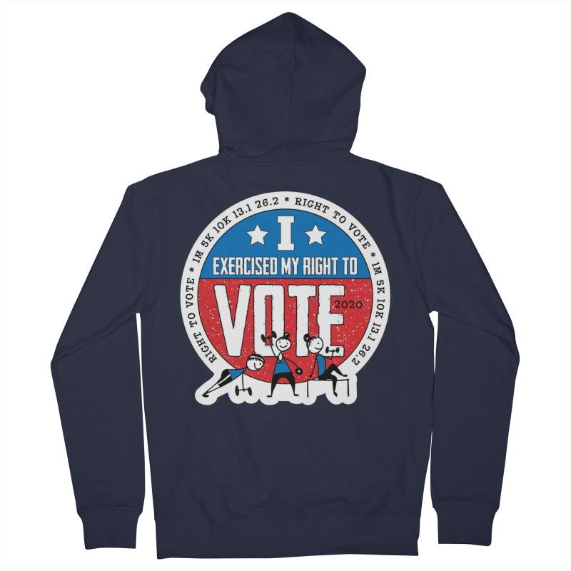 Right to Vote Women's French Terry Zip-Up Hoody by Moon Joggers's Artist Shop