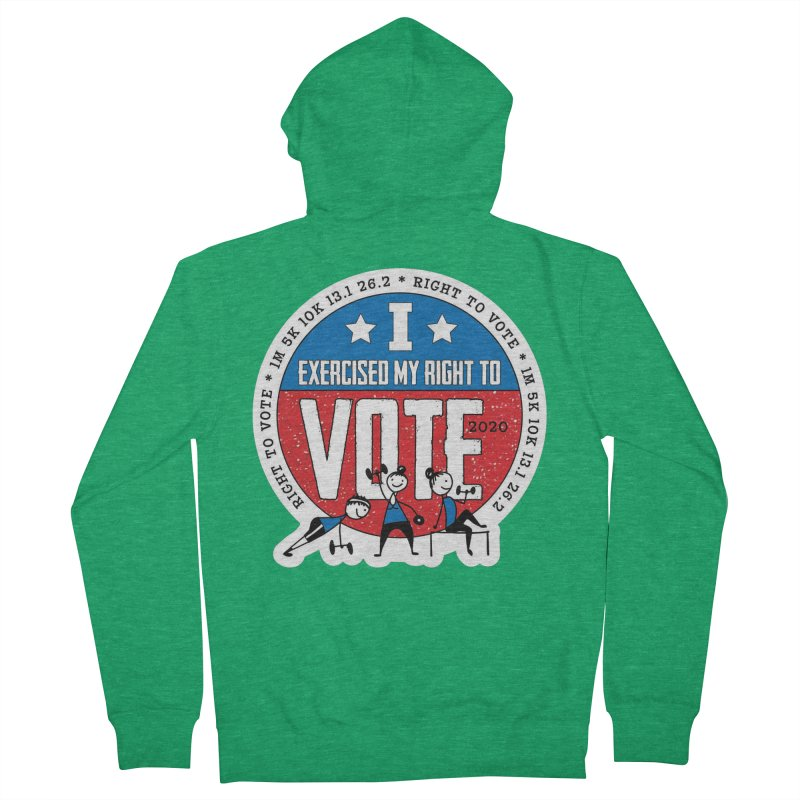 Right to Vote Men's French Terry Zip-Up Hoody by Moon Joggers's Artist Shop