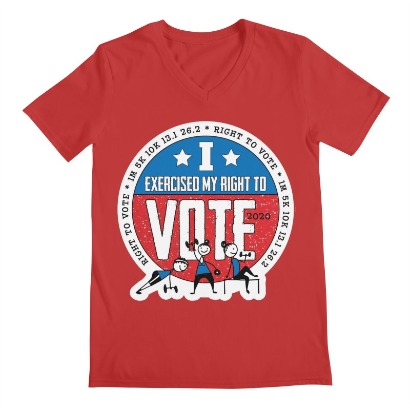 Right to Vote Men's Regular V-Neck by Moon Joggers's Artist Shop