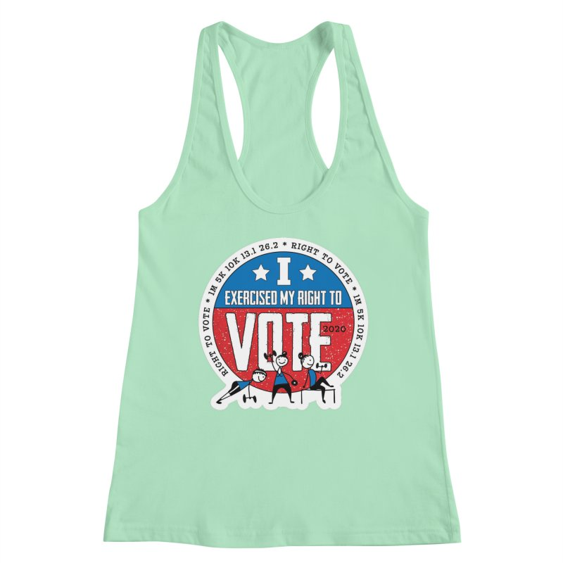 Right to Vote Women's Racerback Tank by Moon Joggers's Artist Shop