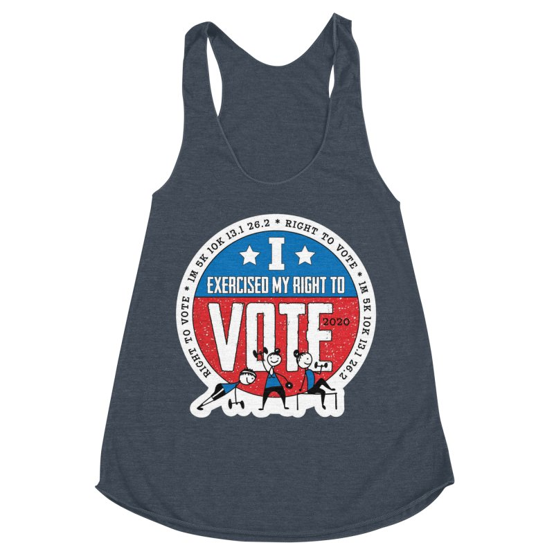 Right to Vote Women's Racerback Triblend Tank by Moon Joggers's Artist Shop