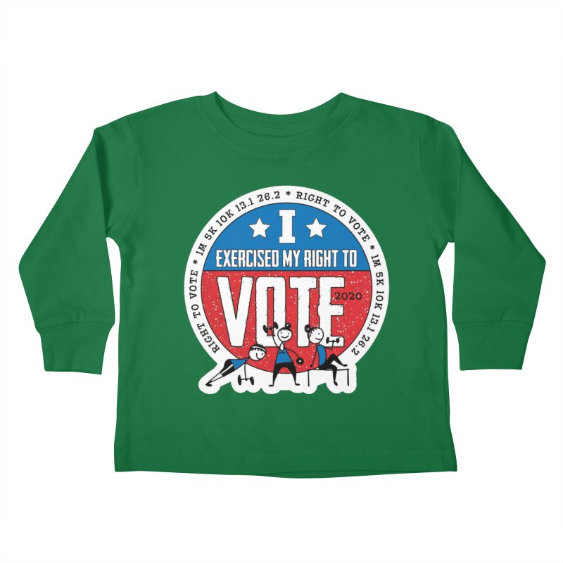 Right to Vote Kids Toddler Longsleeve T-Shirt by Moon Joggers's Artist Shop