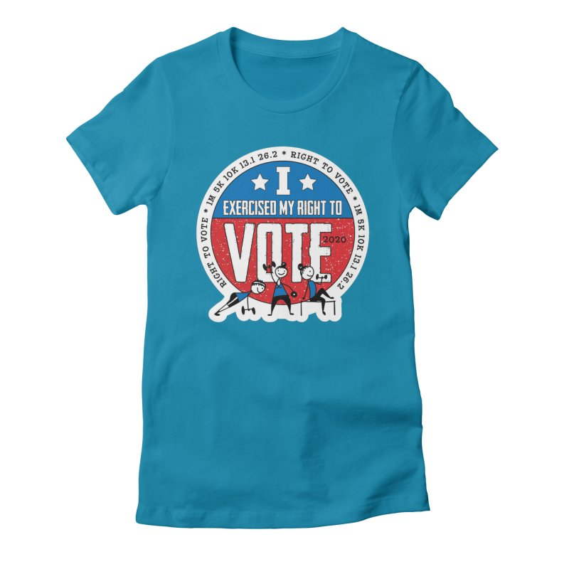 Right to Vote Women's Fitted T-Shirt by Moon Joggers's Artist Shop