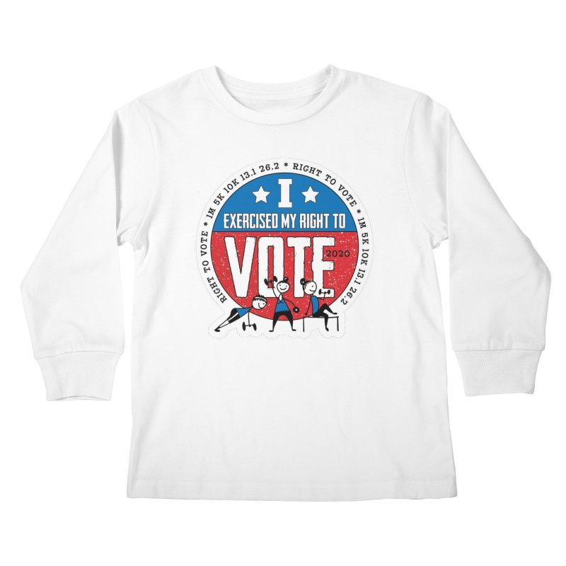 Right to Vote Kids Longsleeve T-Shirt by Moon Joggers's Artist Shop