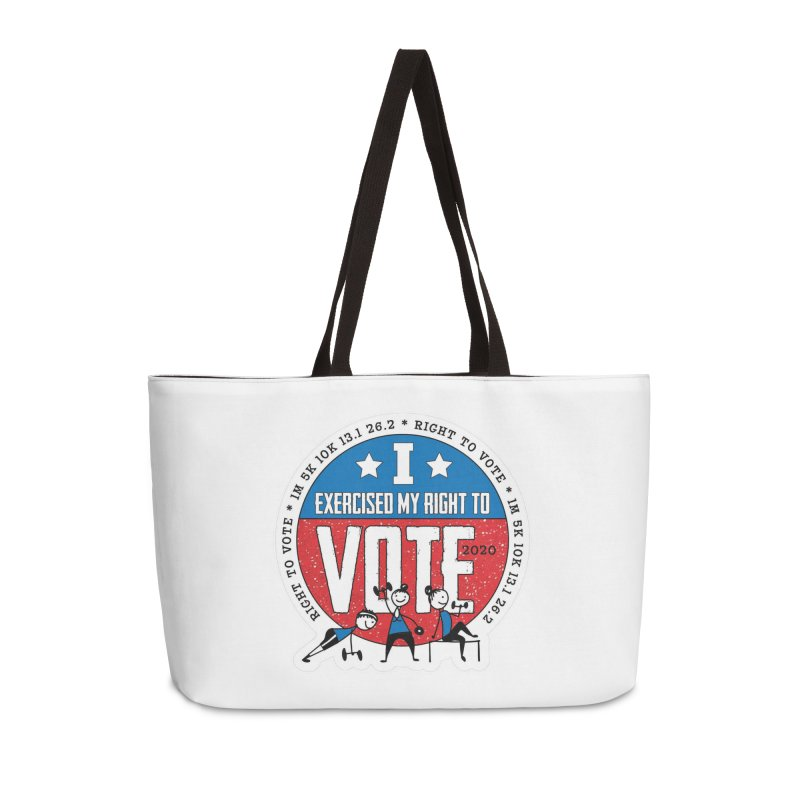 Right to Vote Accessories Weekender Bag Bag by Moon Joggers's Artist Shop